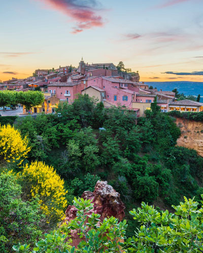 Village de Roussillon en Luberon