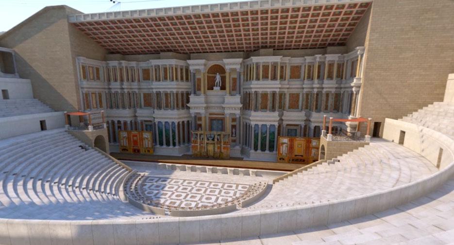 Visite virtuelle du Théatre Antique d'Orange
