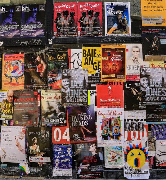 Affiches du festival d'Avignon - ©HOCQUEL A