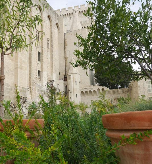 Tuin Urbanus V in het Pausenpaleis