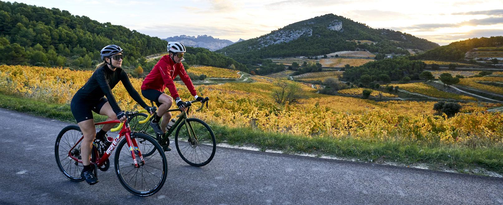 Wijngaarden en fiets: een heerlijk duo!